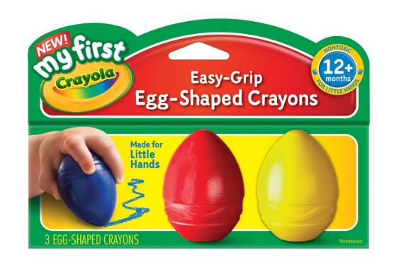 egg shaped crayons first art toddler