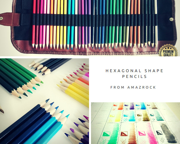 first art toddlers hexagonal shape pencils