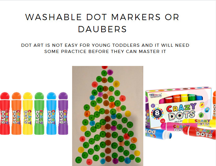 washable dot markers or daubers dot art toddlers