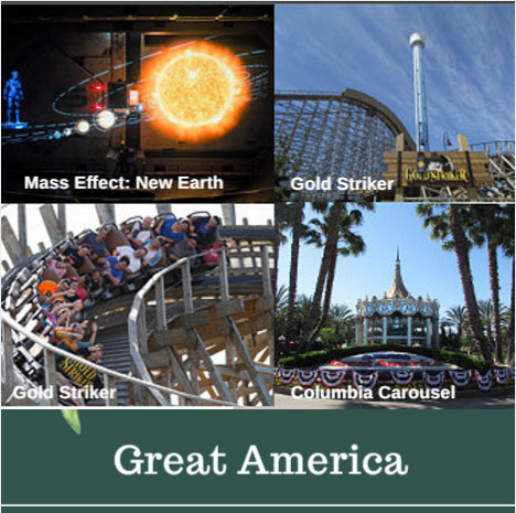 great america park rides